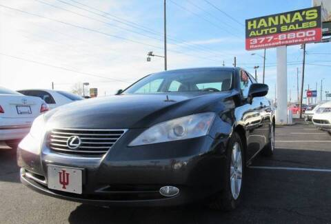 2007 Lexus ES 350 for sale at Hanna's Auto Sales in Indianapolis IN