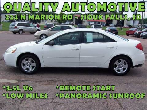 2006 Pontiac G6 for sale at Quality Automotive in Sioux Falls SD