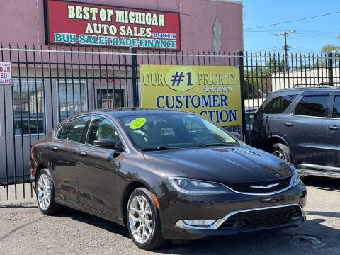 2015 Chrysler 200 for sale at Best of Michigan Auto Sales in Detroit MI
