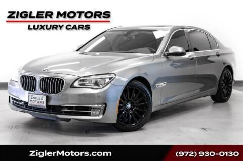2013 BMW 7 Series for sale at Zigler Motors in Addison TX