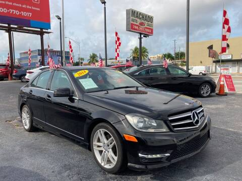 2014 Mercedes-Benz C-Class for sale at MACHADO AUTO SALES in Miami FL