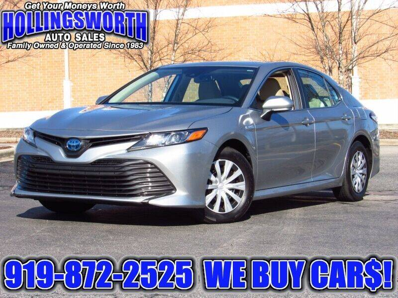 2019 Toyota Camry Hybrid for sale at Hollingsworth Auto Sales in Raleigh NC