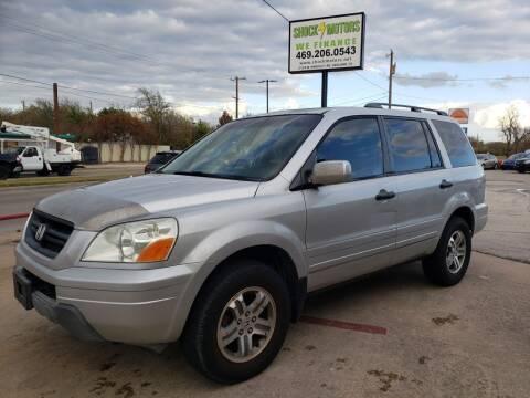 2005 Honda Pilot for sale at Shock Motors in Garland TX