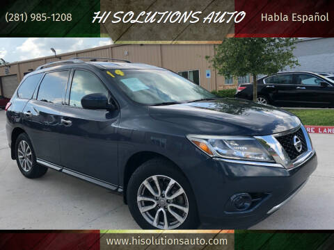 2014 Nissan Pathfinder for sale at HI SOLUTIONS AUTO in Houston TX