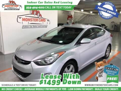 2013 Hyundai Elantra for sale at Monster Cars LLC - Lease Vehicles in Pompano Beach FL