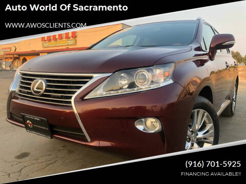 2013 Lexus RX 350 for sale at Auto World of Sacramento Stockton Blvd in Sacramento CA