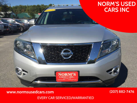 2015 Nissan Pathfinder for sale at NORM'S USED CARS INC in Wiscasset ME