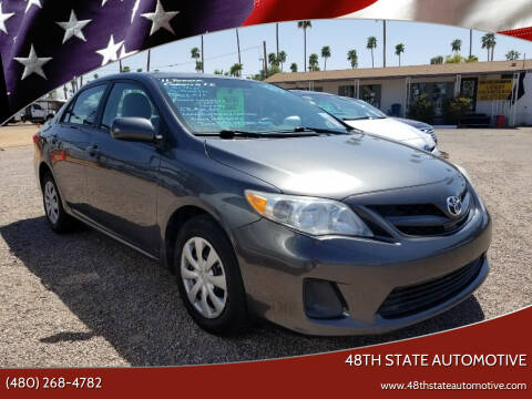 2011 Toyota Corolla for sale at 48TH STATE AUTOMOTIVE in Mesa AZ