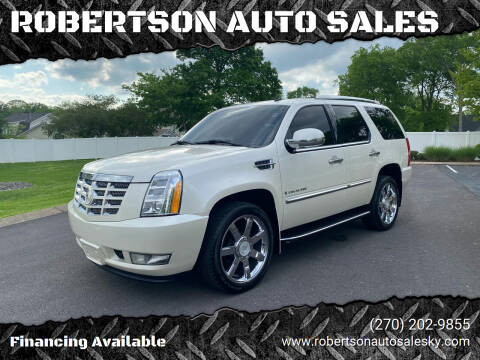 2008 Cadillac Escalade for sale at ROBERTSON AUTO SALES in Bowling Green KY