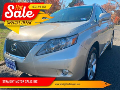 2012 Lexus RX 350 for sale at STRAIGHT MOTOR SALES INC in Paterson NJ