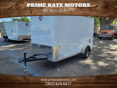 2021 Charmac 6'x12' Single Axle Bumper Pull for sale at PRIME RATE MOTORS in Sheridan WY