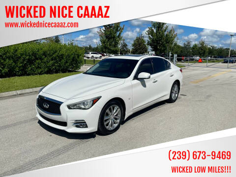 2015 Infiniti Q50 for sale at WICKED NICE CAAAZ in Cape Coral FL