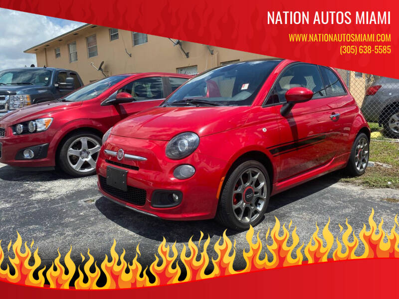 2013 FIAT 500 for sale at Nation Autos Miami in Hialeah FL