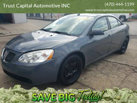 2008 Pontiac G6 for sale at Trust Capital Automotive Inc. in Covington GA