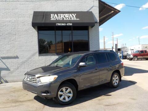 2009 Toyota Highlander for sale at FAIRWAY AUTO SALES, INC. in Melrose Park IL