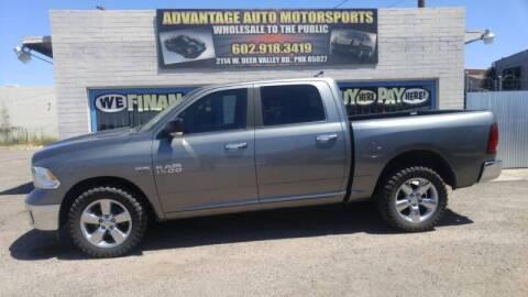 2013 RAM Ram Pickup 1500 for sale at Advantage Motorsports Plus in Phoenix AZ
