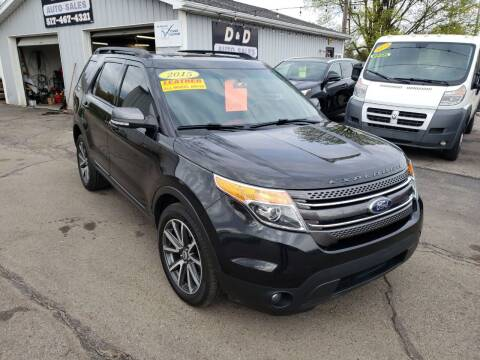 2015 Ford Explorer for sale at D & D Auto Sales Of Onsted in Onsted   Brooklyn MI