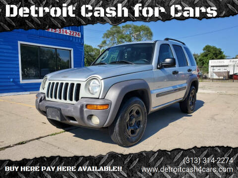2004 Jeep Liberty for sale at Detroit Cash for Cars in Warren MI