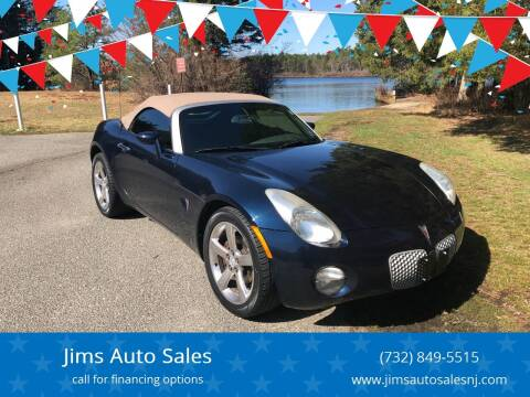2007 Pontiac Solstice for sale at Jims Auto Sales in Lakehurst NJ