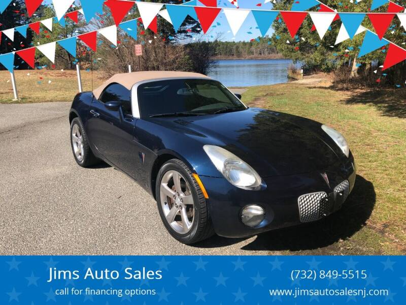 2007 Pontiac Solstice for sale at Jims Auto Sales in Lakehurst NJ