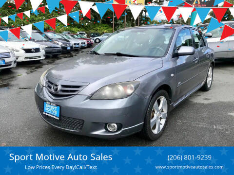 2005 Mazda MAZDA3 for sale at Sport Motive Auto Sales in Seattle WA