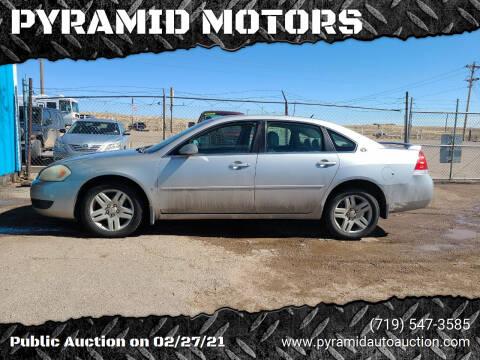 2006 Chevrolet Impala for sale at PYRAMID MOTORS - Pueblo Lot in Pueblo CO