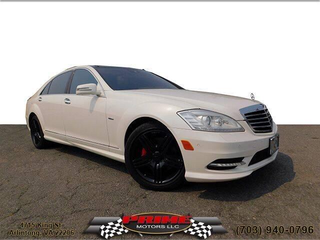 2012 Mercedes-Benz S-Class for sale at PRIME MOTORS LLC in Arlington VA