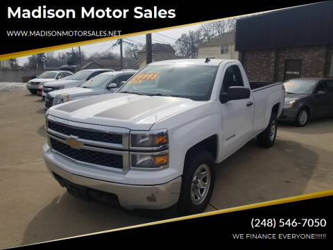 2014 Chevrolet Silverado 1500 for sale at Madison Motor Sales in Madison Heights MI