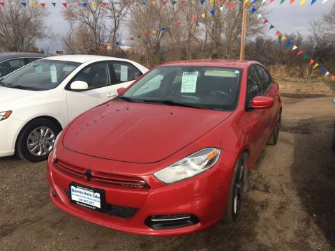 2013 Dodge Dart for sale at BARNES AUTO SALES in Mandan ND