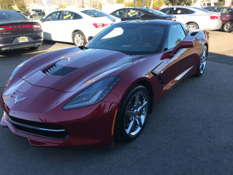 2014 Chevrolet Corvette for sale at Soledad Auto Sales in Soledad CA