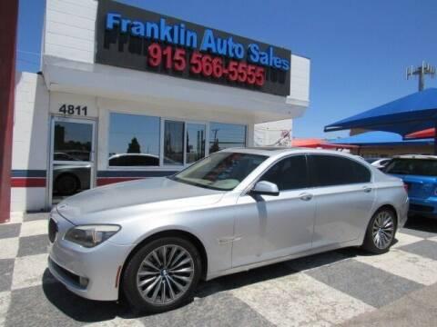 2011 BMW 7 Series for sale at Franklin Auto Sales in El Paso TX