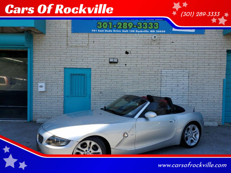 2003 BMW Z4 for sale at Cars Of Rockville in Rockville MD