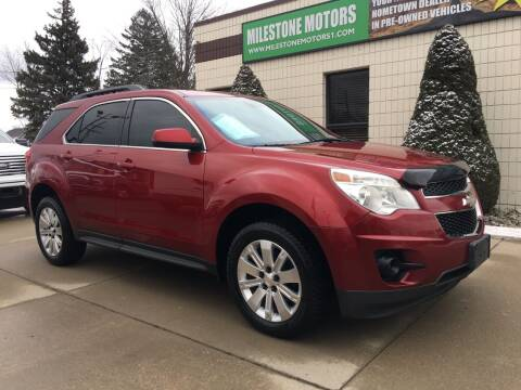 2012 Chevrolet Equinox for sale at MILESTONE MOTORS in Chesterfield MI