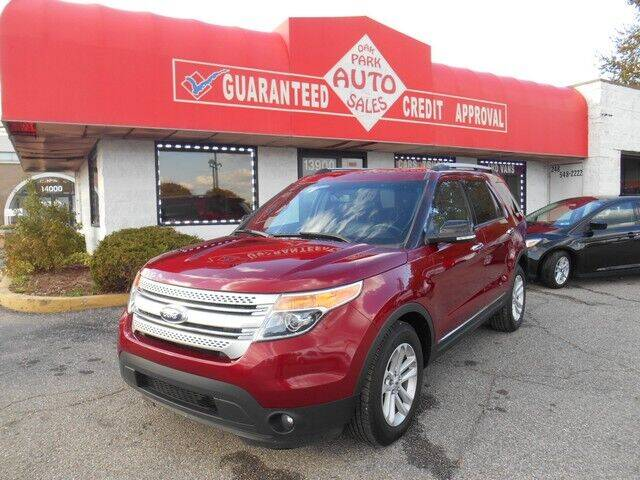 2015 Ford Explorer for sale at Oak Park Auto Sales in Oak Park MI