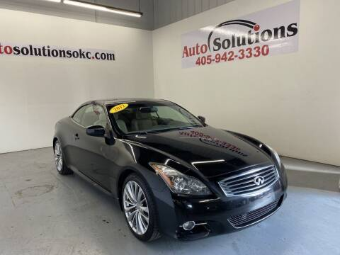 2012 Infiniti G37 Convertible for sale at Auto Solutions in Warr Acres OK