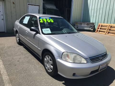 2000 Honda Civic for sale at Quintero's Auto Sales in Vacaville CA