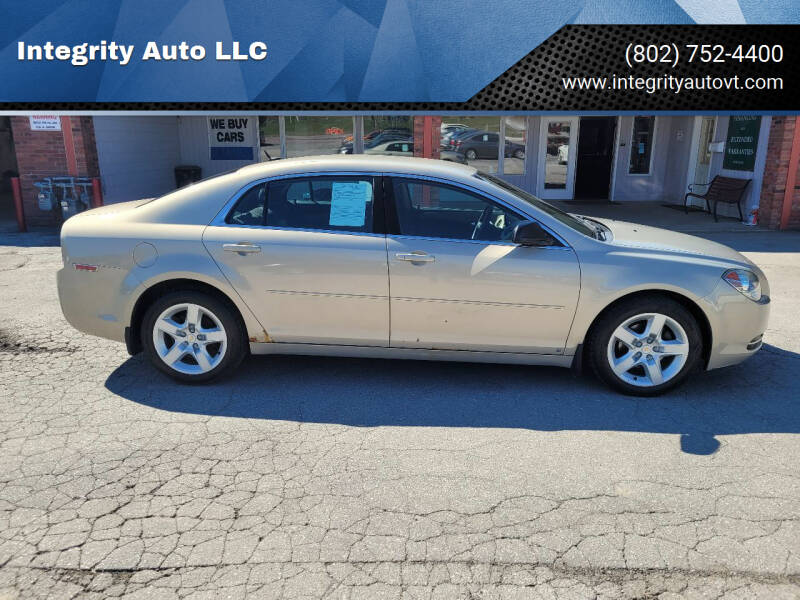 2009 Chevrolet Malibu for sale at Integrity Auto LLC - Integrity Auto 2.0 in St. Albans VT