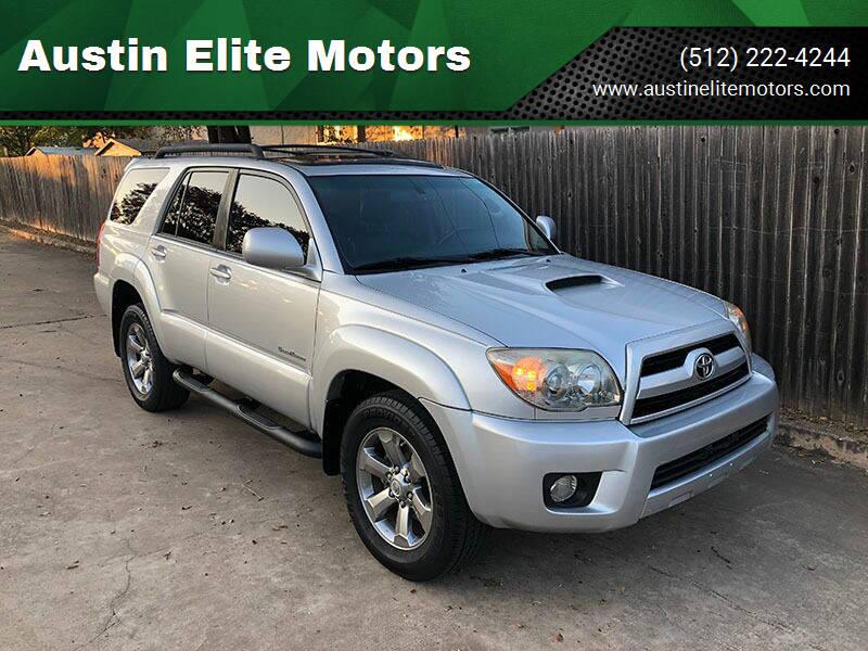 2008 Toyota 4Runner for sale at Austin Elite Motors in Austin TX