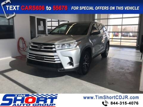 2019 Toyota Highlander for sale at Tim Short Chrysler in Morehead KY