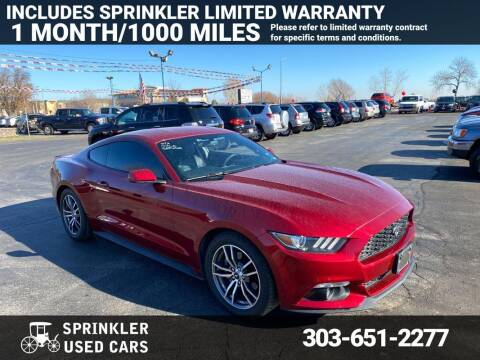 2015 Ford Mustang for sale at Sprinkler Used Cars in Longmont CO