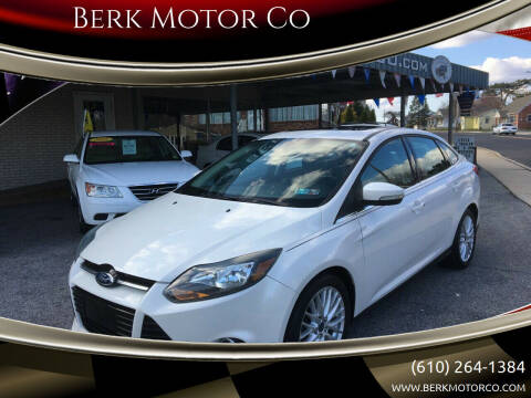 2013 Ford Focus for sale at Berk Motor Co in Whitehall PA