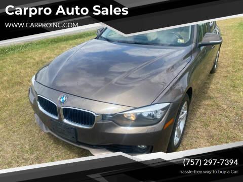 2013 BMW 3 Series for sale at Carpro Auto Sales in Chesapeake VA