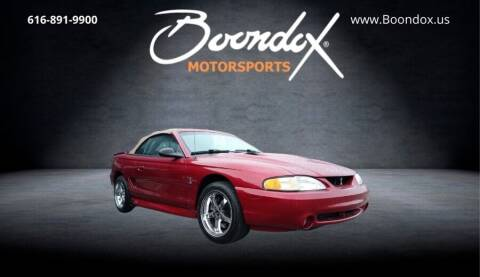 1996 Ford Mustang SVT Cobra for sale at Boondox Motorsports in Caledonia MI
