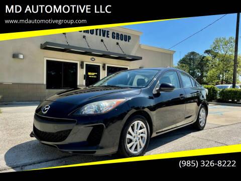 2012 Mazda MAZDA3 for sale at MD AUTOMOTIVE LLC in Slidell LA