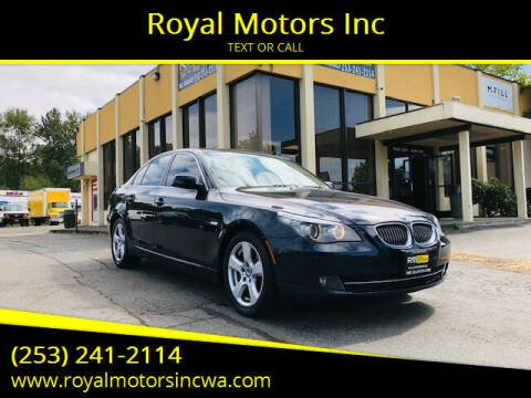 2008 BMW 5 Series for sale at Royal Motors Inc in Kent WA