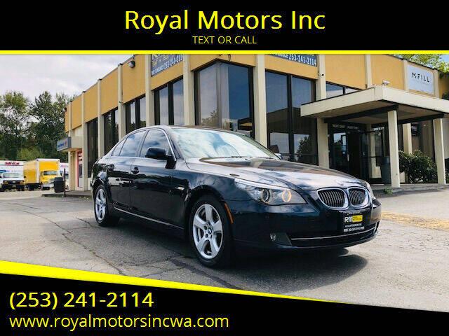 2008 BMW 5 Series for sale at Royal Motors Inc in Kent WA