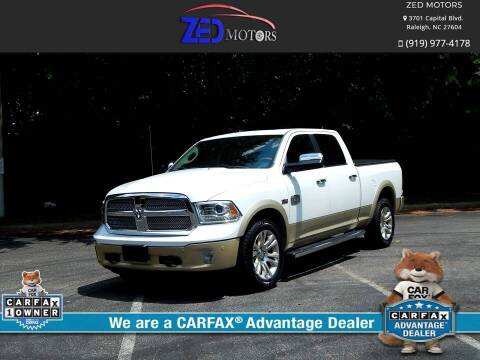 2015 RAM Ram Pickup 1500 for sale at Zed Motors in Raleigh NC