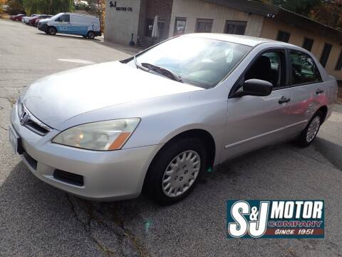 2006 Honda Accord for sale at S & J Motor Co Inc. in Merrimack NH