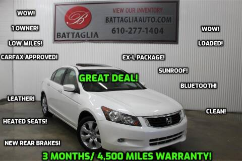 2008 Honda Accord for sale at Battaglia Auto Sales in Plymouth Meeting PA