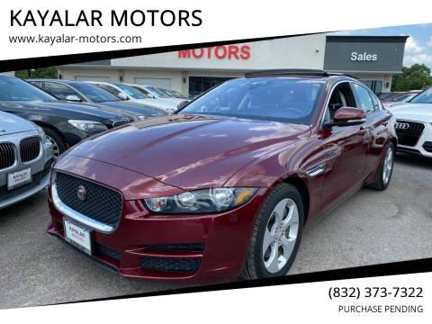 2017 Jaguar XE for sale at KAYALAR MOTORS in Houston TX